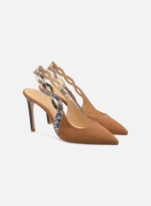 High heels Made by SARENZA Carioca Crew Escarpins #6 Brown back view