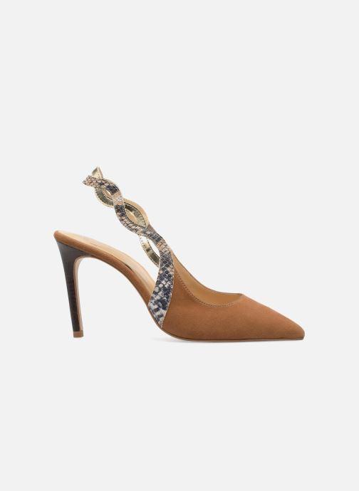 High heels Made by SARENZA Carioca Crew Escarpins #6 Brown detailed view/ Pair view