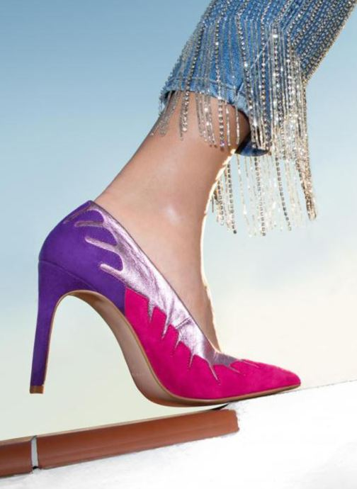 High heels Made by SARENZA Carioca Crew Escarpins #9 Pink view from underneath / model view