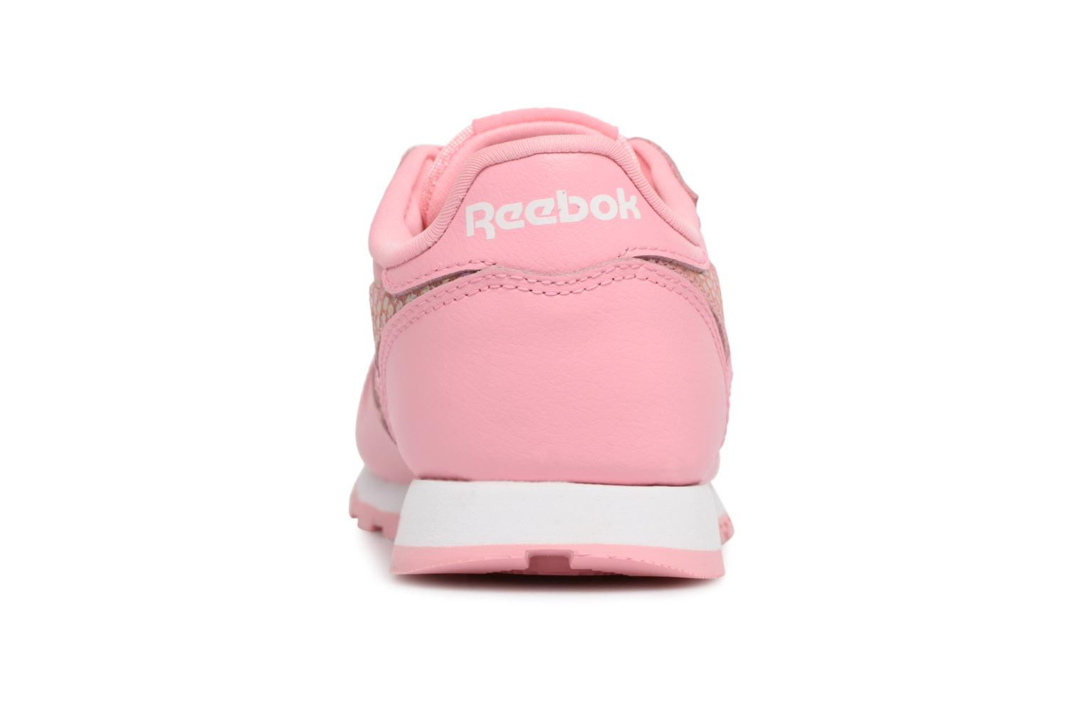 Sneakers Reebok Cl Leather Spring Rosa immagine destra