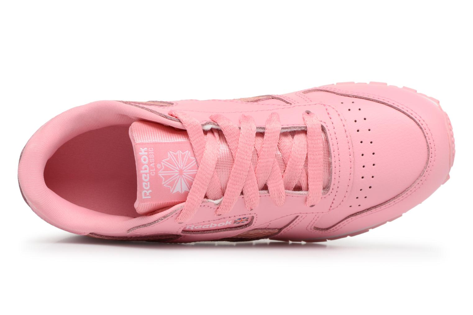 Sneakers Reebok Cl Leather Spring Rosa immagine sinistra