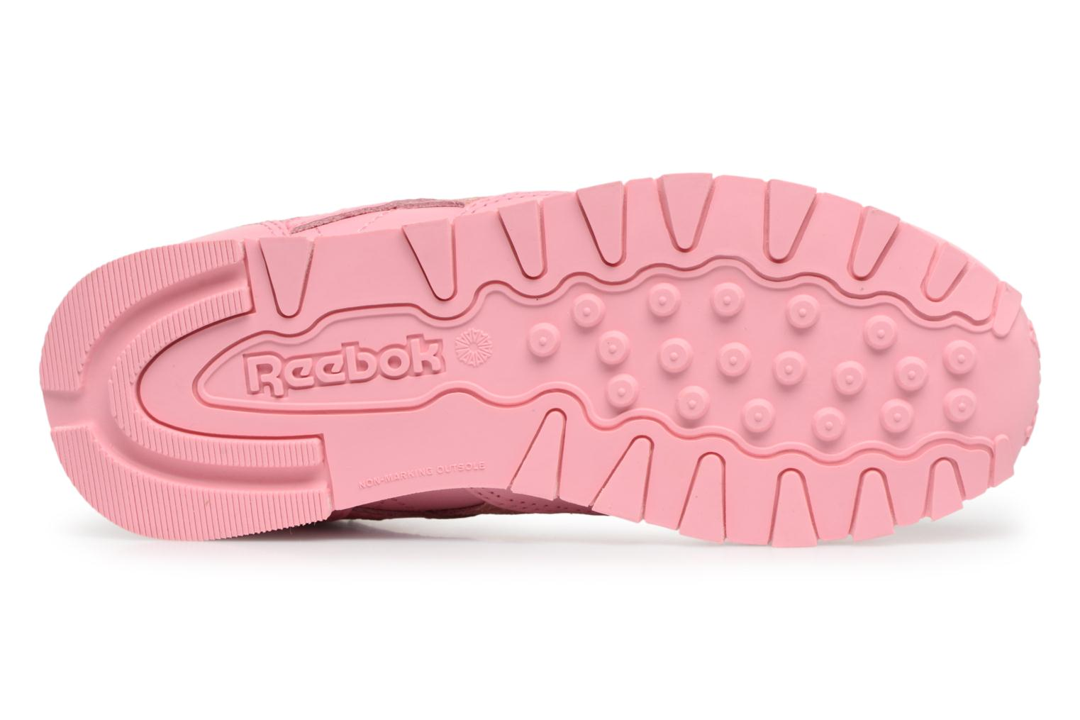Sneakers Reebok Cl Leather Spring Rosa immagine dall'alto
