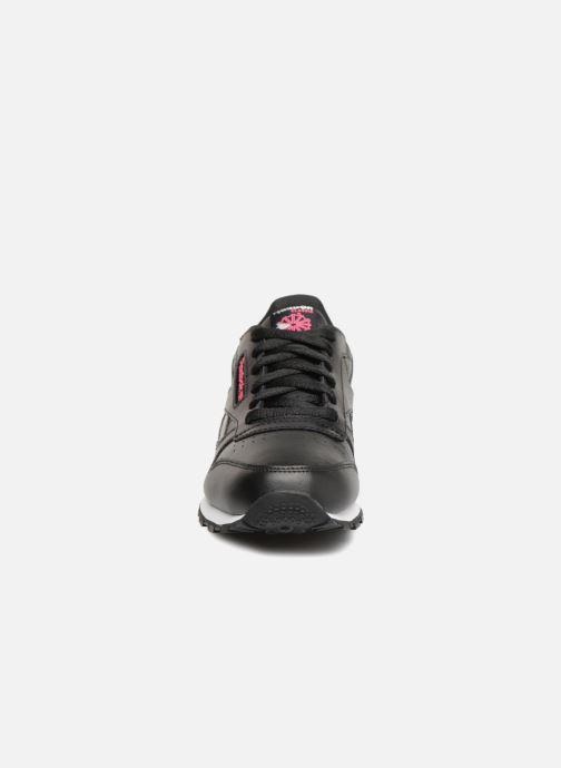 Baskets Reebok Cl Leather Girl Squad Noir vue portées chaussures