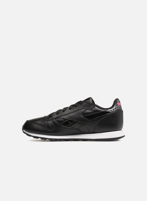 Trainers Reebok Cl Leather Girl Squad Black front view