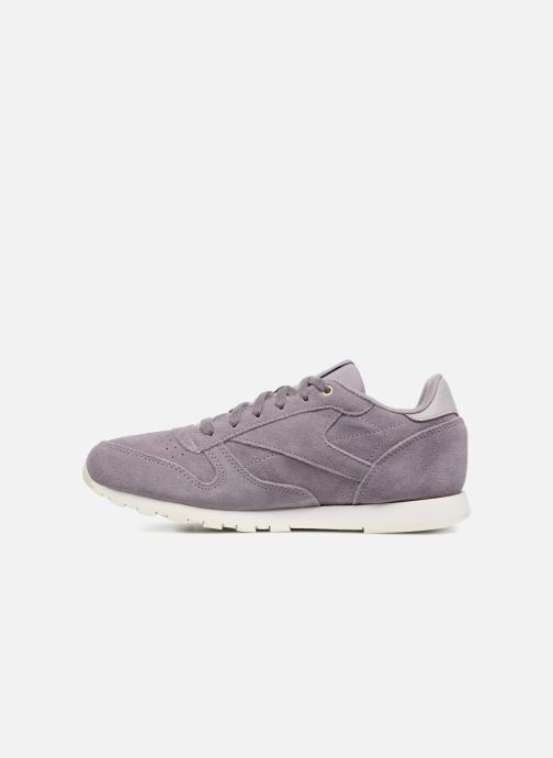 Trainers Reebok Cl Leather Mcc Purple front view