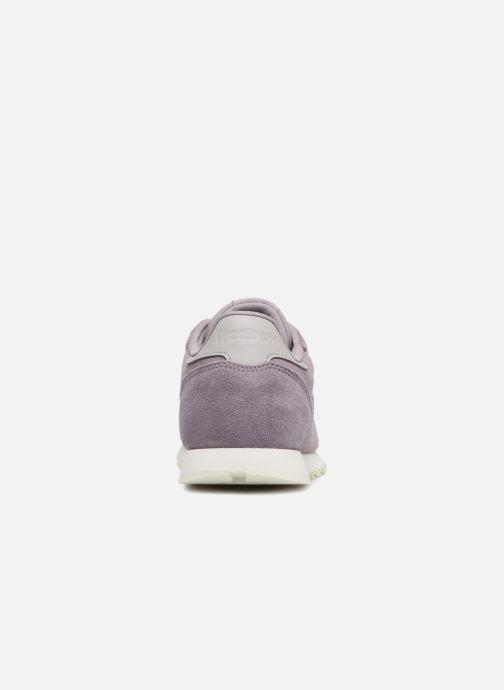 Baskets Reebok Cl Leather Mcc Violet vue droite