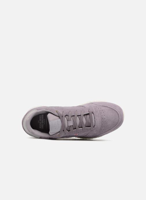 Baskets Reebok Cl Leather Mcc Violet vue gauche