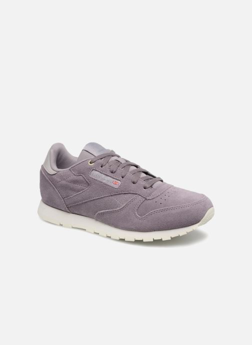 Trainers Reebok Cl Leather Mcc Purple detailed view/ Pair view