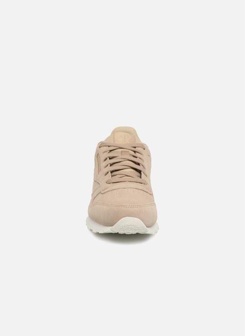 Baskets Reebok Cl Leather Mcc Beige vue portées chaussures