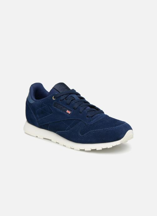 206c44f70f9 Reebok Cl Leather Mcc (Blue) - Trainers chez Sarenza (316452)