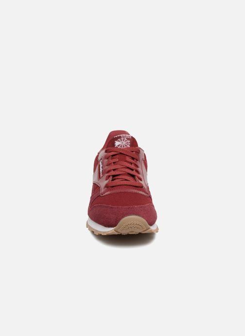 Baskets Reebok Cl Leather Estl J Rouge vue portées chaussures