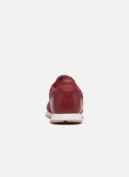 Baskets Reebok Cl Leather Estl J Rouge vue droite