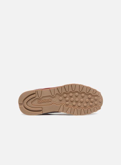 Baskets Reebok Cl Leather Estl J Rouge vue haut