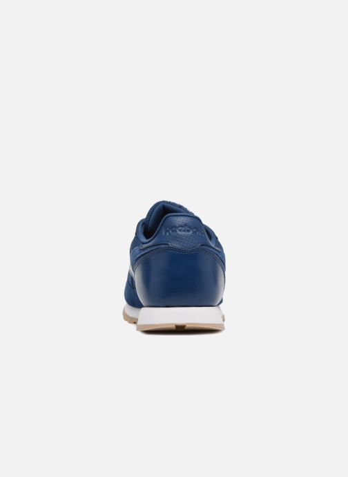 Baskets Reebok Cl Leather Estl J Bleu vue droite