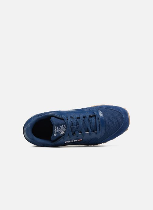 Baskets Reebok Cl Leather Estl J Bleu vue gauche