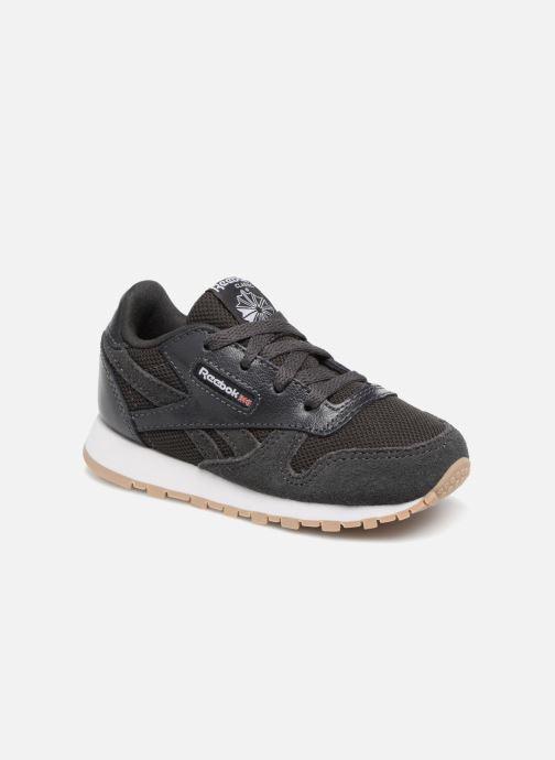 Deportivas Reebok Cl Leather Estl I Negro vista de detalle / par