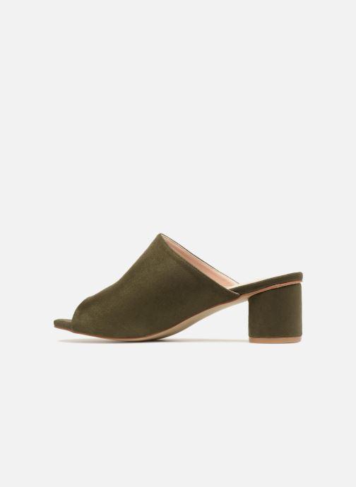 Zuecos I Love Shoes CAMULE Verde vista de frente