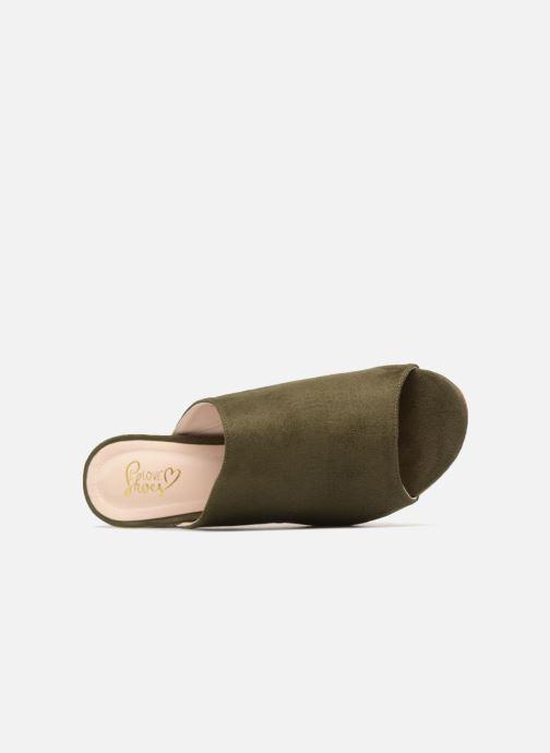 Zuecos I Love Shoes CAMULE Verde vista lateral izquierda
