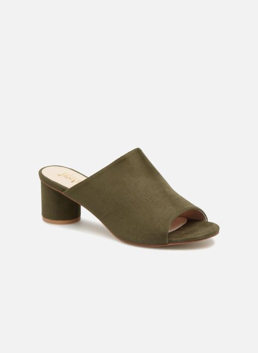 Zuecos I Love Shoes CAMULE Verde vista de detalle / par