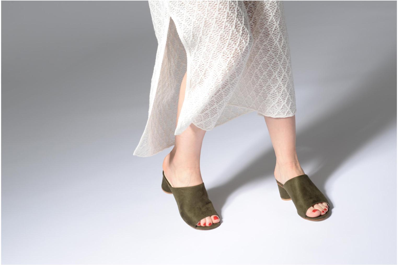Mules et sabots I Love Shoes CAMULE Vert vue bas / vue portée sac