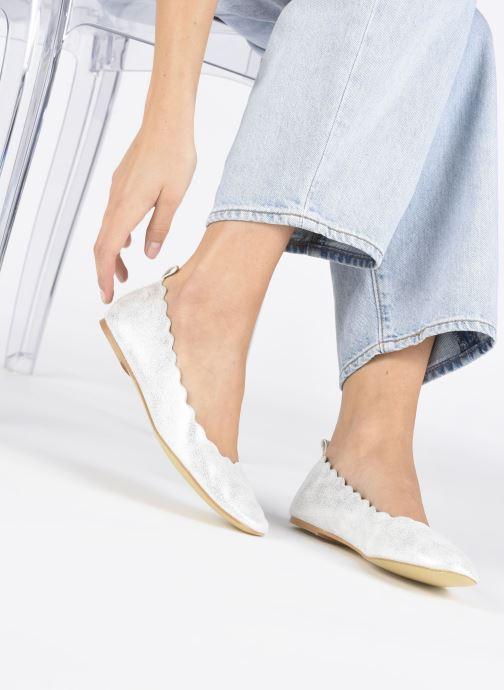 Ballerines I Love Shoes CAFESTON Argent vue bas / vue portée sac
