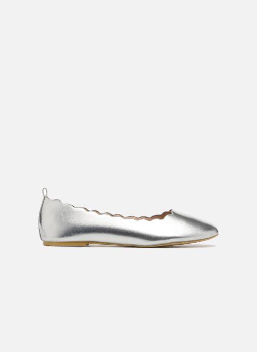 Bailarinas I Love Shoes CAFESTON Plateado vistra trasera