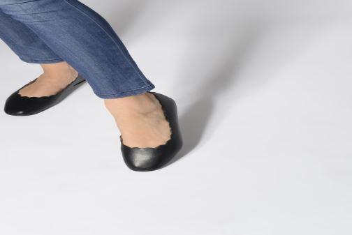 Ballerines I Love Shoes CAFESTON Noir vue bas / vue portée sac