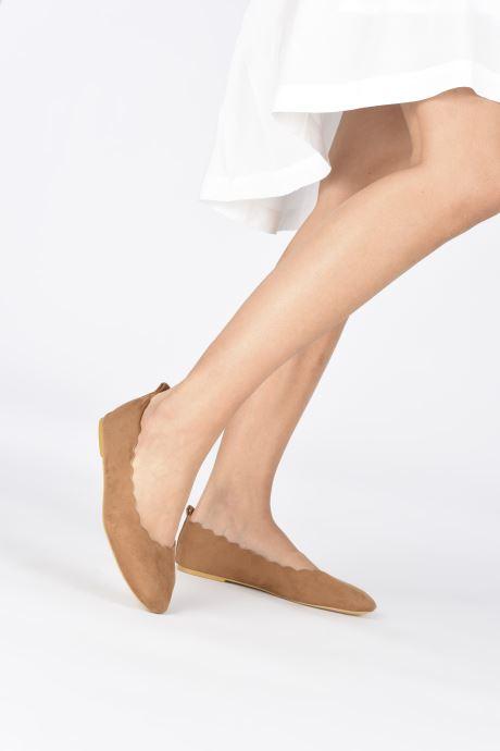 Ballerines I Love Shoes CAFESTON Marron vue bas / vue portée sac