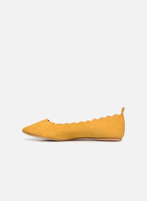 Ballerines I Love Shoes CAFESTON Jaune vue face