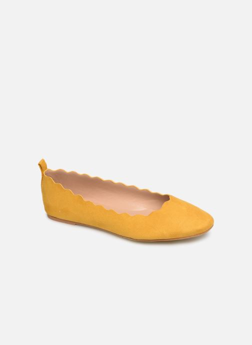 Ballerines I Love Shoes CAFESTON Jaune vue détail/paire