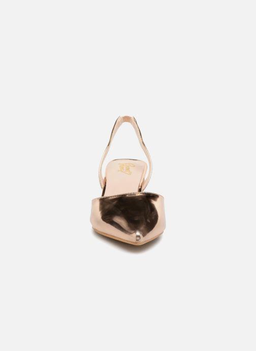 Escarpins I Love Shoes CALANE Or et bronze vue portées chaussures