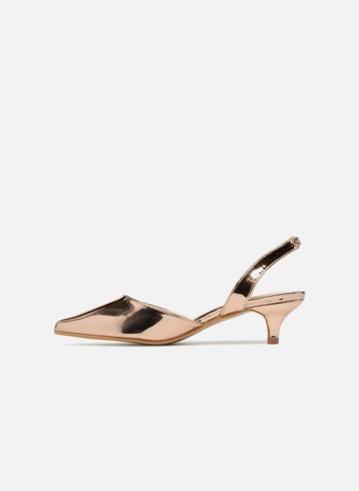 High heels I Love Shoes CALANE Bronze and Gold front view