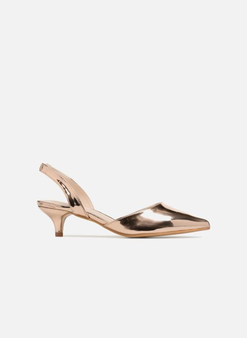 High heels I Love Shoes CALANE Bronze and Gold back view