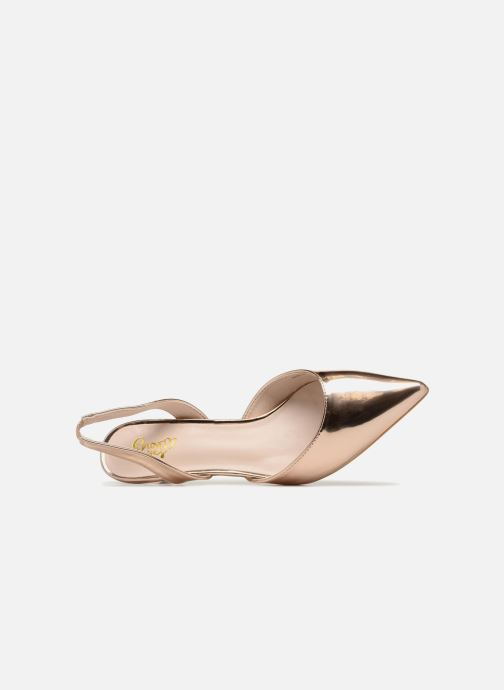High heels I Love Shoes CALANE Bronze and Gold view from the left
