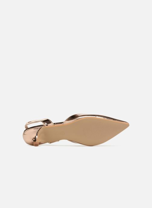 High heels I Love Shoes CALANE Bronze and Gold view from above