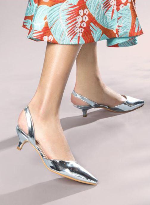 Escarpins I Love Shoes CALANE Argent vue bas / vue portée sac