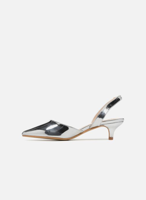 High heels I Love Shoes CALANE Silver front view