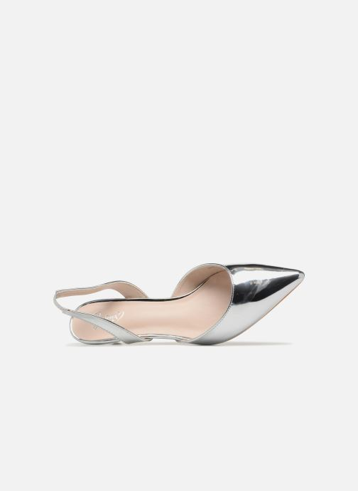 High heels I Love Shoes CALANE Silver view from the left