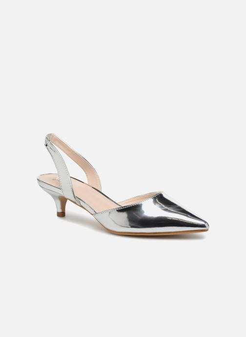 High heels I Love Shoes CALANE Silver detailed view/ Pair view