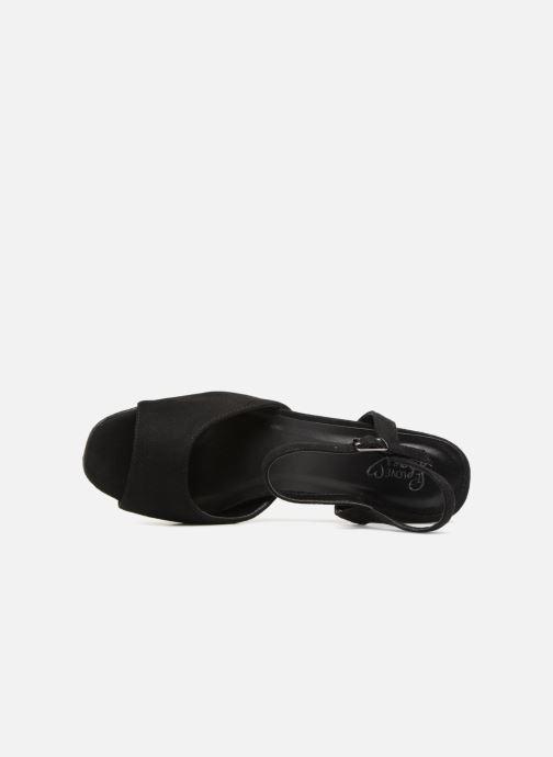Shoes I Nu Et Black Lapaix Love Suedine Sandales pieds Y6gyfb7v