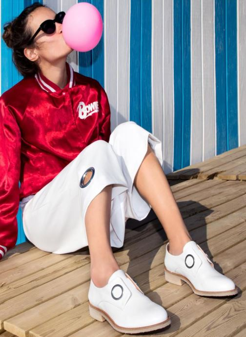 Mocassins Made by SARENZA 90's Girls Gang Chaussures à Lacets #2 Blanc vue bas / vue portée sac