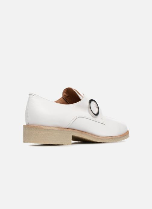 Loafers Made by SARENZA 90's Girls Gang Chaussures à Lacets #2 White front view