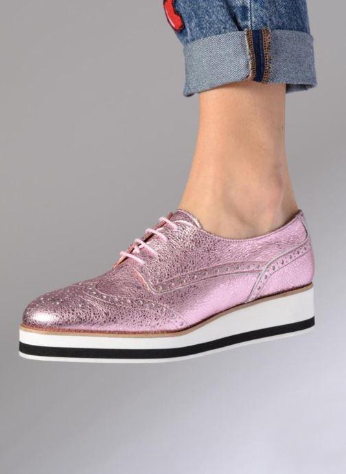 Schnürschuhe Made by SARENZA 90's Girls Gang Chaussures à Lacets #4 rosa ansicht von unten / tasche getragen