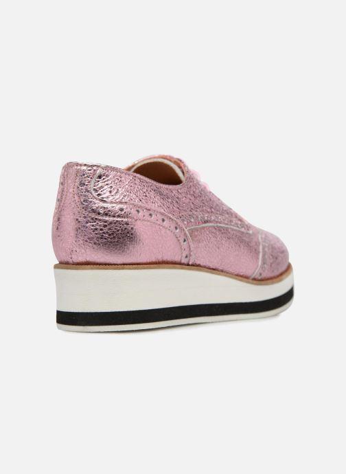 Zapatos con cordones Made by SARENZA 90's Girls Gang Chaussures à Lacets #4 Rosa vista de frente