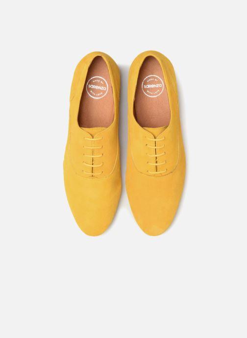 Schnürschuhe Made by SARENZA Carioca Crew Chaussures à Lacets #2 gelb schuhe getragen