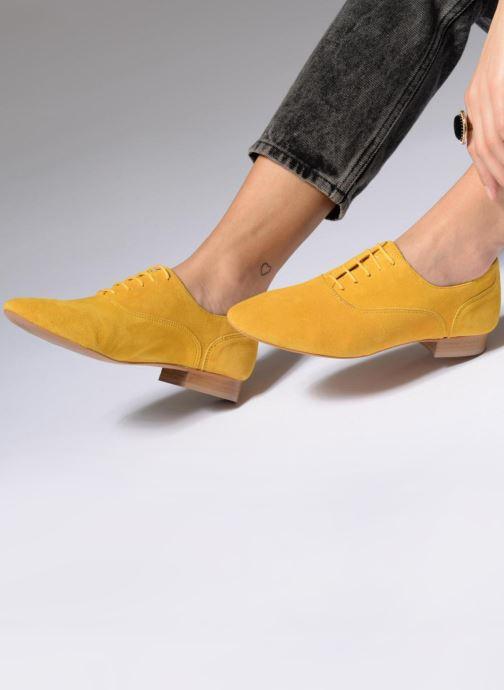 Schnürschuhe Made by SARENZA Carioca Crew Chaussures à Lacets #2 silber ansicht von unten / tasche getragen