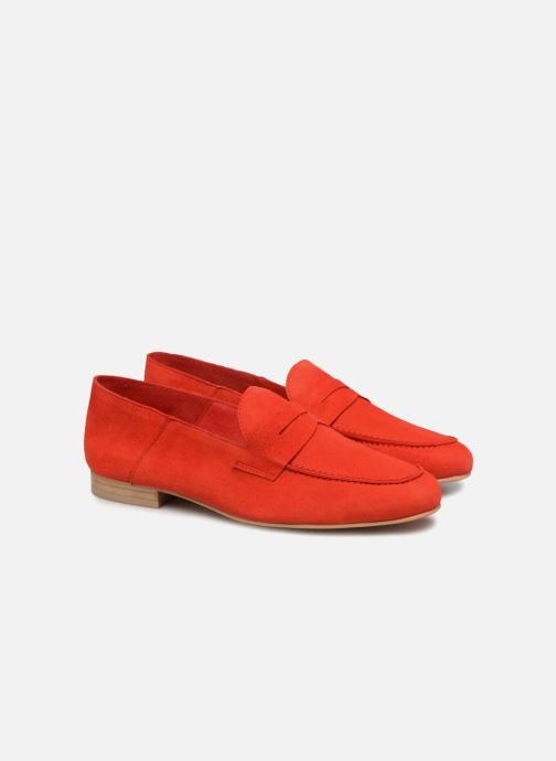 Made Gang By Sarenza 90's Mocassins2 Cuir Rouge Velours Girls WD2YHE9eI
