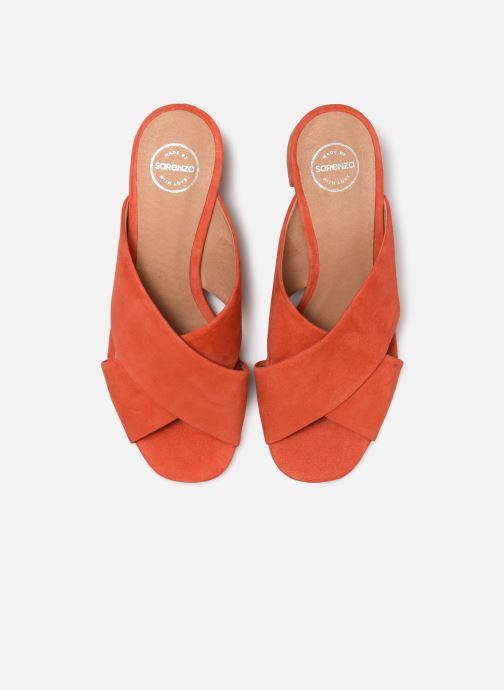 Zoccoli Made by SARENZA UrbAfrican Mules #4 Arancione modello indossato