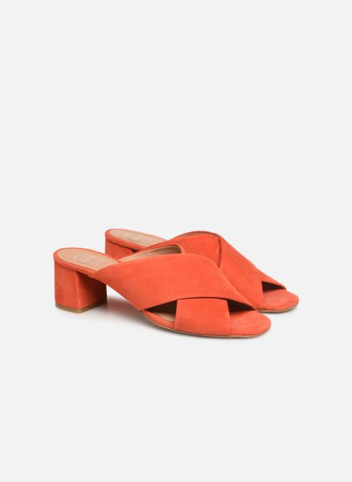 Wedges Made by SARENZA UrbAfrican Mules #4 Oranje achterkant