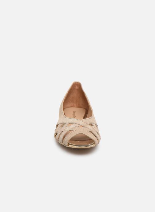Ballerines Georgia Rose Cordou Beige vue portées chaussures